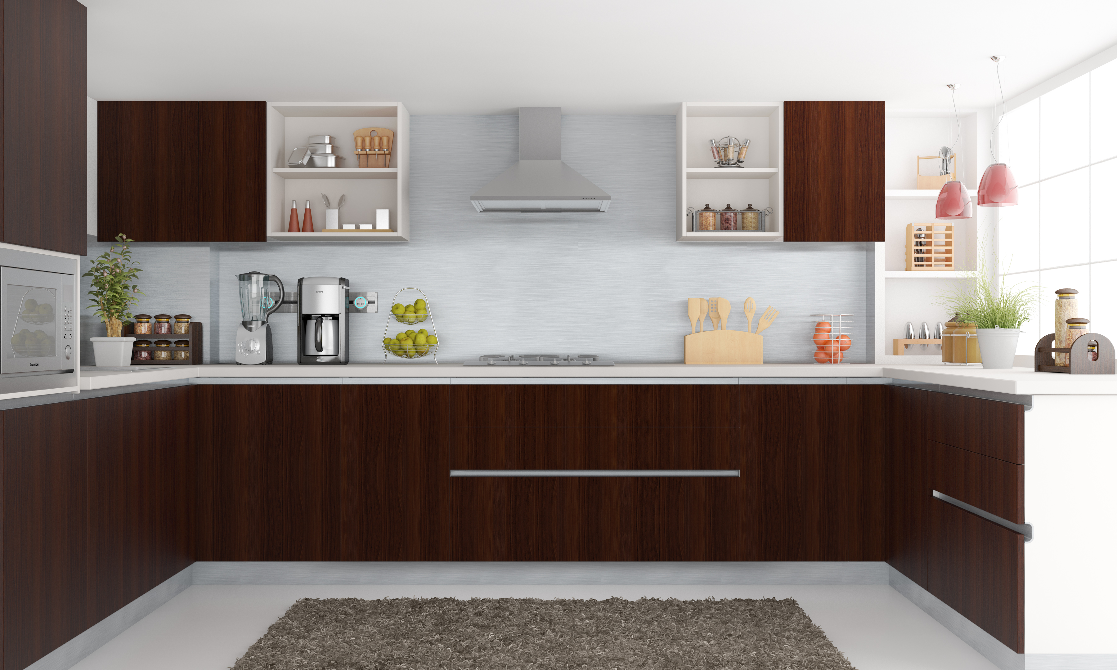 Modular Kitchen With Full Functionality And Beautiful